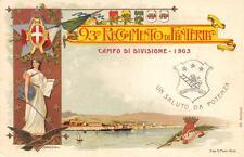 A4198) 93 FANTERIA BRIGATA MESSINA CAMPO DI DIVISIONE 1905 A POTENZA.