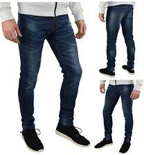 Mens Slim Fit Stretch Jeans Comfy Fashionable Super Flex Denim Pants