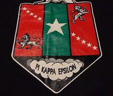Vintage LONE STAR PI KAPPA Fraternity Crest Akron University Black T Shirt sz XL