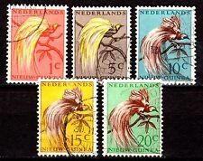 Dutch New Guinea - 1954 Definitives Bird of Paradise - Mi. 25-29 VFU