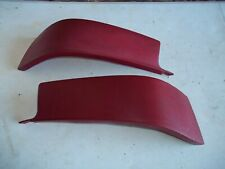 Red UPPER SEAT SIDE FILLER PANEL SET LEFT RIGHT REAR Cranberry OEM GM TWO DOOR