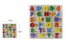 Scatola di legno di legno lettere inglese di legno di 26pcs Regalo educativo