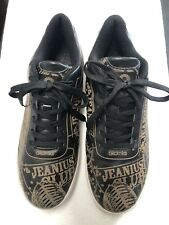 Akademiks Upper Leather, Outsole Rubber Black With Jeanius Club Brown Writings