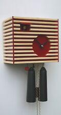Moderne Kuckucksuhr Bauhaus-Stil, rot, 8 Tage Werk RH CS34-3 NEU