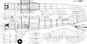 SVENSON Fieseler storch Fi156 R/C SCALE PLANS