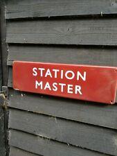 STATION MASTER enamel sign British Rail railway train sign BR