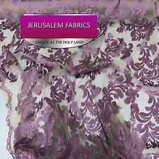 Wonderful Italian Design bridal wedding lace plum. Sold by the yard.