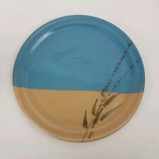 """Cold Mountain Pottery Serving Plate / Platter, 11"""" Wide, Wheat Theme"""