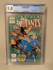 The New Mutants #93 CGC 9.4 NM Cable Wolverine Liefeld