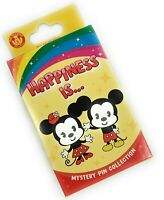 Disney Parks Happiness Is Mickey 2 Pc. Pin Box Mystery Blind Sealed - NEW