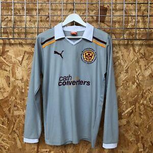 Motherwell Puma Away Shirt Long Sleeve 2011/2012 - M MEDIUM - Top Kit Jersey