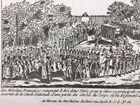 Femmes dans la Révolution Française 1789 Retour Louis 16 à Paris Rare Gravure