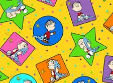 Project Linus - Peanuts!  VIP Quilt fabric 1/2 yard ~ Stars, Circles, Squares