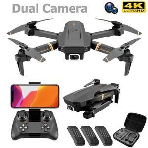 New RC Drone V4 4K HD Wide Angle Camera WiFi FPV Dual Camera PRO Quadcopter Toys
