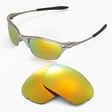 New Walleva Polarized 24K Gold Replacement Lenses For Oakley Half X Sunglasses