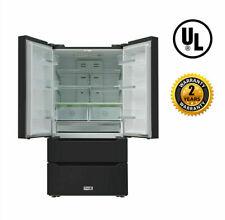 Thor Kitchen 36'' Wide 4Door french Door Refrigerator Fridge 22.5 cuft Black S/S