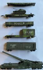 Lot Of 6 VINTAGE Trains- HO Scale US ARMY #114 #0217 #2345 #61242 #56789 #900112