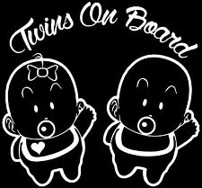 Twin Babies on board Decal Sticker for Car/Truck Laptop Window Custom