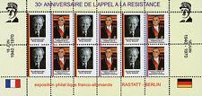 """VIGNETTE POLITIQUE """"30 ans Appel 18 Juin - DE GAULLE / POMPIDOU & BRANDT"""" 1970"""
