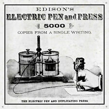 Edison's Electric Pen and Press Advertisement Sign