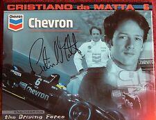 AUTOGRAPHED COLOR PHOTO> INDY CAR>DRIVER >CHRISTIANO da MATTA