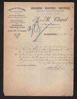 """AURILLAC (15) HORLOGERIE BIJOUTERIE ORFEVRERIE """"A.-M. CLAVEL"""" en 1905"""