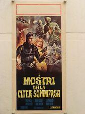 I MOSTRI DELLA CITTA' SOMMERSA regia Terence Ford locandina orig. 1970