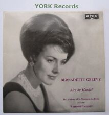 ZRG 501 - BERNADETTE GREEVY - Airs By Handel - Excellent Condition  LP Record
