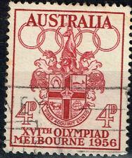 Australia XVI Melbourne Olympiad Coat of Arm stamp 1956