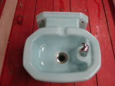 1950s ?? BLUE Color Porcelain Vintage Antique Drinking Water Fountain by KHOLER