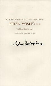 Eileen Derbyshire Autograph - Coronation St - Signed Memorial Service - AFTAL