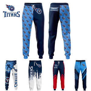 Tennessee Titans Men Sweatpants Jogging Training Pants Sports Trousers All Size