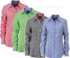 Gestreifte klassische Damenblusen, - tops & -shirts mit Button Down-Kragen
