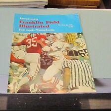 1978 Yale Bulldogs vs. Pennsylvania Quakers College Football Game Program Sports