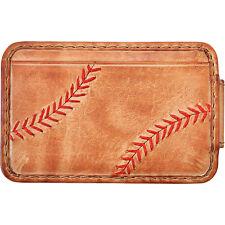 Rawlings Baseball Stitch Front Pocket Wallet - Tan Men's Wallet NEW