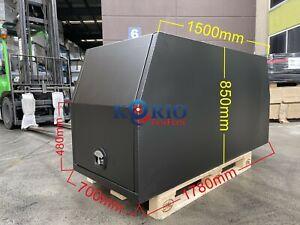 BLACK Aluminium Canopy Toolbox Gullwing UTE TRUCK Tool Box 1780 W x 700 Lx 850 H