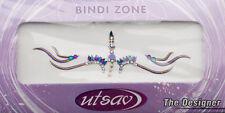 Bindi violet dore bijoux de peau mariage autoadhesif strass front sourcils 3634