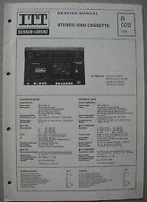 ITT/schaub lorenz stereo 5100 CASSETTE SERVICE MANUAL, r022