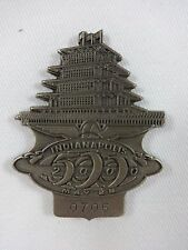2000 Indianapolis 500 #0706 Silver Pit Badge Juan Pablo Montoya Ganassi Racing