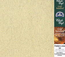 "Charles Craft Oatmeal 14 Ct Fiddler's Aida XS Fabric 15"" x 18"" #GD-0149-5451"