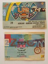 Vintage U2 Portugal Concert tickets x 2 Zooropa 93 + Pop Mart Tour 97 Excellent