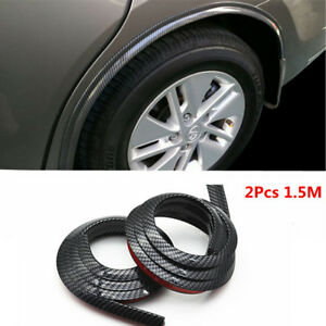Carbon Fiber Car Fender Flare Wheel Eyebrow Pad Protector Rubber Strip Sticker