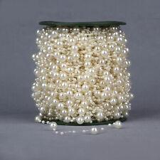 196FT Pearl Chain Wedding Decoration Fishing Line Beads Flower Chain Garland
