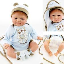 "silicone vinyl reborn baby dolls lifelike baby 18"" newborn handmade doll gift"