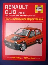 Haynes Service and Repair Manual Renault Clio Diesel 1991 to 1996 H to N (1712)