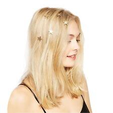 5PCs Women Girls Star Clips Hairpin Spiral Hair Claw Stick Accessories HOT