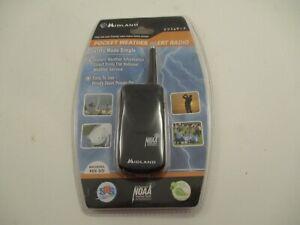 Midland NOAA HH-50 Pocket Portable Radio Weather Hazard Emergency Alert Black
