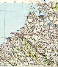 Le Tréport Cayeux Blangy 1939 carte routière orig. (partie) Moyenneville Ault Eu