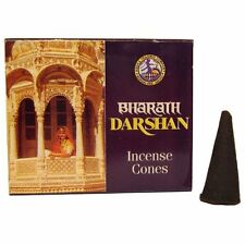Bharath Darshan Incense Cone Incense - 10 Cone Box - Dhoop, Incense, Scented
