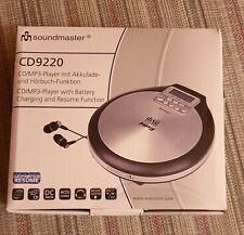 soundmaster CD 9220 Tragbarer CD Player MP3 Player Antischock XBass